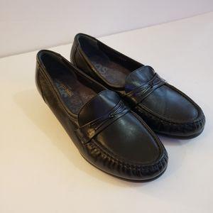 SAS Black Loafers Size 8.5 WW Like New! Orthotic